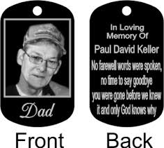 in loving memory dog tags memorial tags keychains