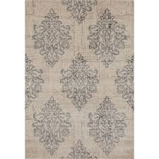 world rug gallery transitional damask high quality soft gray 7 ft