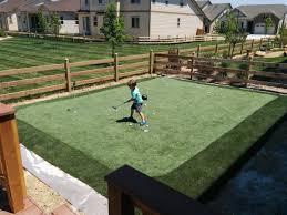 backyard putting green installation home outdoor decoration