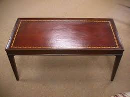 leather top side table 83 1950 s vintage leather top coffee table on tables antique