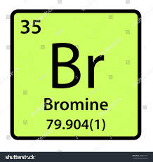 Bromine On The Periodic Table Element Bromine Periodic Table Stock Illustration 298533161