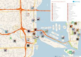 miami bureau of tourism free printable map of miami attractions from tripomatic com get