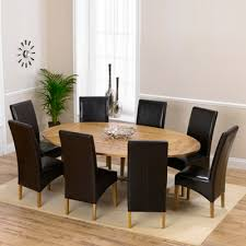 Extended Dining Table Carver Oak Oval Extending Dining Table With 8 Rome Chairs Robson