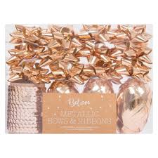christmas gift wrap sets unbranded metallic bows and ribbon christmas gift wrap set gold