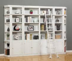 White Cottage Bookcase by Boca 6 Piece Bookcase Library Wall In Cottage White Finish By