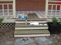 Best Way To Paint Metal Patio Furniture How To Paint A Wood Deck Or Front Porch We Did Subtle Stripes