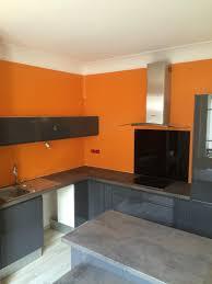 cuisine orange et gris cuisine orange et grise la cuisine et grise incarne luide