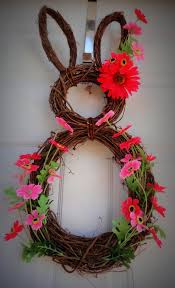 Easter Bunnies For Decorations by Easter Bunny Door Wreath Diy Easter Door Decoration Easter Craft