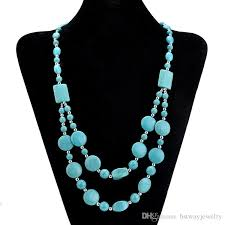 multi layered bead necklace images Wholesale yiwu wholesale turquoise multi layer bead necklace jpg
