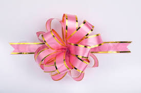 christmas gift bow pink christmas gift ribbon and bow stock photo colourbox