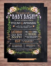 baby shower coed floral rustic boho babyq chalkboard couples co ed baby shower