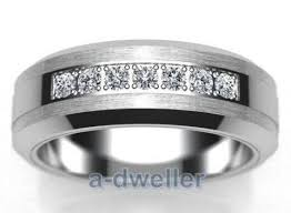 Mens Tungsten Carbide Wedding Rings by Tungsten Wedding Bands With Diamonds Tungsten Rings For Men