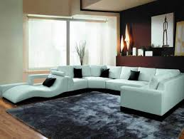 Contemporary Black Leather Sofa Recliner Couch Contemporary Sectional Sofas Black And Grey Sofa