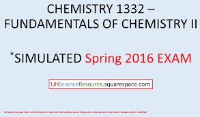 general chemistry 2 chem 1332 u2013 exam 1 spring 2016 simulated