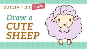 easy drawing tutorial how to draw a cute sheep youtube