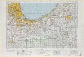 Map Of Chicago Illinois by Chicago Topographic Maps In Il Mi Usgs Topo Quad 41086a1 At 1