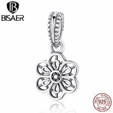 sted necklace 925 sterling silver floral lace pendant pendant charm fit