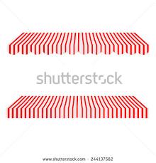 Window Canopies And Awnings Striped Black White Shopstore Window Awning Stock Vector 431289181