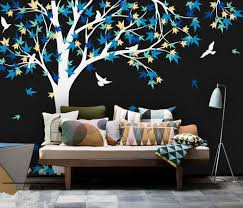 high quality tree mural nursery promotion shop for high quality large mural 238x180cm large canada maple tree wall decals baby bedroom nursery art pic vinyl wall stickers for kids room d972