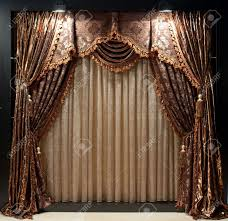 luxurious old fashioned designer window curtains with flowers