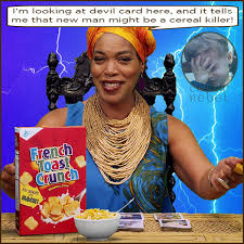 Miss Cleo Meme - surreal cereal killers the celtic rebel