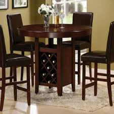 Kitchen Table With High Chairs by Craftman Dinette Area Design With Round Leaf Bar High Kitchen