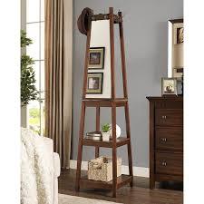 roundhill furniture vassen swivel coat rack with 3 tier storage