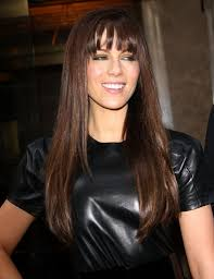 long brunette hairstyle with bangs brunette long hairstyles with