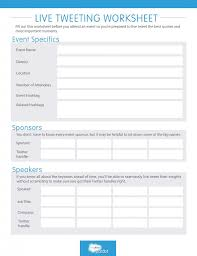 live tweeting worksheet plan out your socialmedia strategy for a