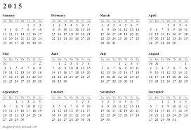 printable calendar year on one page 2015 one page calendar roberto mattni co