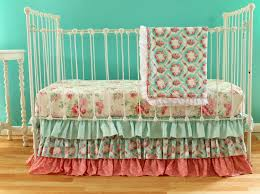 Pink And Teal Crib Bedding by Pink And Aqua Vintage Inspired Crib Bedding Set Multiple Set