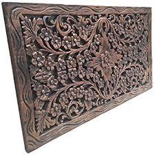 wood wall carvings jubilant thai elephant duo carved teak wood wall