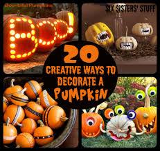 six sisters u0027 stuff 20 creative ways to decorate pumpkins