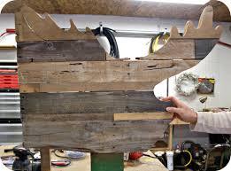 reclaimed wood moose head tutorial simply swider