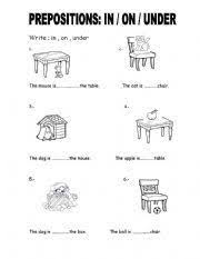 prepositions the cat and the chair prepositions the chair and