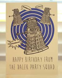 doctor who birthday card dalek tardis dr who geeky party