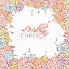 wedding card with beautiful frame of rose vector clipart image