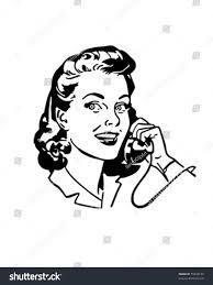 retro martini clip art lady chatting on phone retro clip stock vector 55843150 shutterstock