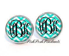 Monogrammed Earrings Monogram Stud Earrings Monogram Jewelry Monogrammed Earrings
