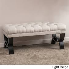 Ottoman Bench Scarlette Tufted Fabric Ottoman Bench By Christopher Home