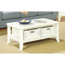White Wicker Desk by The Simple Stores Antique White Coffee Table Set 4010w The