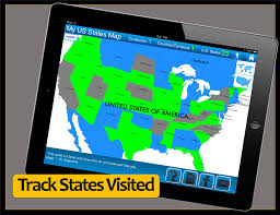 Fifty States Map Travel Goal Getter Travel Blog