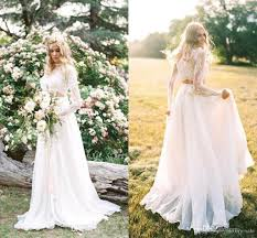 two wedding dress discount 2018 vintage bohemia two a line wedding dresses