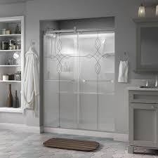 delta silverton 60 in x 71 in semi frameless contemporary