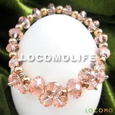 bead bracelet crystal images Faceted crystal loose bead beaded jewelry bracelet pink jbl001s01 jpg