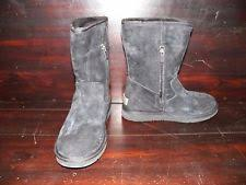 ugg womens kaysa shoes black ugg australia zip flat 0 to 1 2 in shoes for ebay