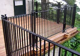 metal deck railings with iron railing systems ideas designs