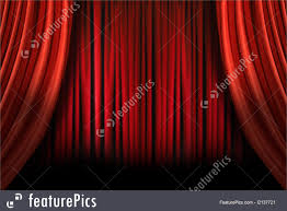 Old Curtains Architecture Old Fashioned Elegant Stage With Swag Velvet