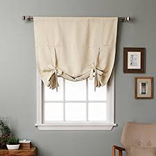 Pull Up Curtains Rhf Tie Up Shades Rod Pocket Thermal Insulated