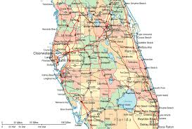 florida highway map regional map of central florida